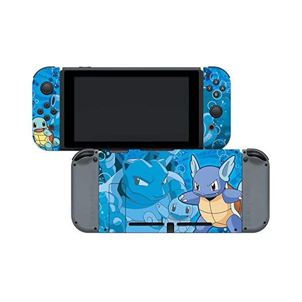 Controller Gear Nintendo Switch Skin & Screen Protector Set - Pokemon - Squirtle Evolutions Set 1 - Nintendo Switch 6