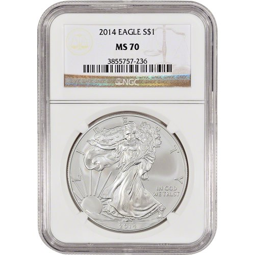 2014 American Silver Eagle $1 MS70 NGC