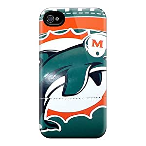 Iphone 4/4s GZe13874rUPX Support Personal Customs HD Miami Dolphins Image Protective Cell-phone Hard Covers -SherriFakhry