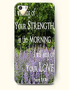 iPhone 4 4S Case OOFIT Phone Hard Case **NEW** Case with Design I Will Sing Of Your Strength In The Mornig I Will Sing Of Your Love Psalm 59:16- Bible Verses - Case for Apple iPhone 4/4s