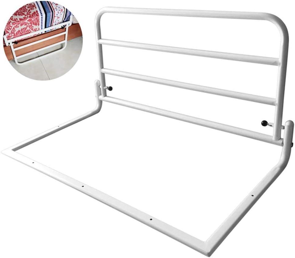 ベッドレール安全アシスト病院安全ハンドル折りたたみベッドサイドグラブバーバンパー、ベッドガードRailsの高齢者のための幼児、60×45センチメートル(白) (Size : 80cm)