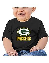 Green Bay Packers Football Logo Packers Kids Shirts Black (6-24 Months)