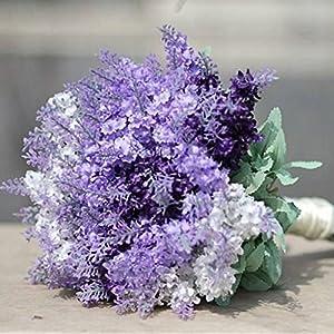 Auxsoul Mother Day Gift 6PCS 10Heads Artificial Lavender Plant with Silk Lavender Flowers Lavender Bouquet for Wedding Decor, Home, Garden, Patio Decoration 59