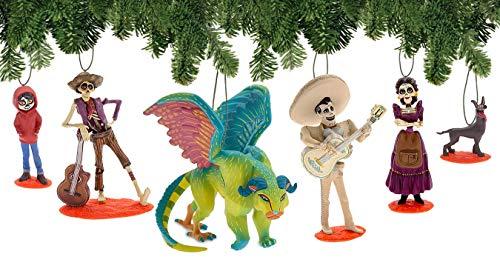 Disney Pixar Coco Deluxe 6-Piece Holiday Ornament Set - Day of The Dead - Dia de Los Muertos]()