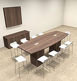 Amazoncom Standing Height Conference Tables Length White - Standing height meeting table