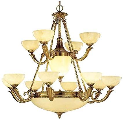 "Classic Lighting 5664 ABZ Valencia, Alabaster, Chandelier, 42"" x  42"" x - Classic Lighting 5664 ABZ Valencia, Alabaster, Chandelier, 42"