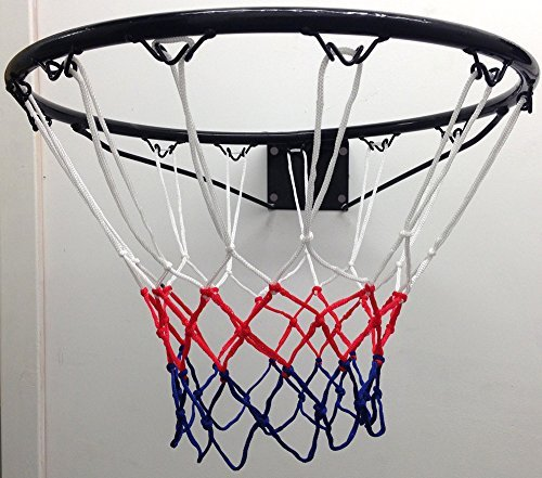 FXR Sports Steel Basket Ball Ring (Official Size - 45cm) - With Hoop, Net & Wall Mounting Fixings by FXR Sports by FXR Sports