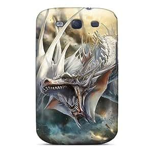 Galaxy S3 Case Slim [ultra Fit] Fantasy White Dragon Protective Case Cover