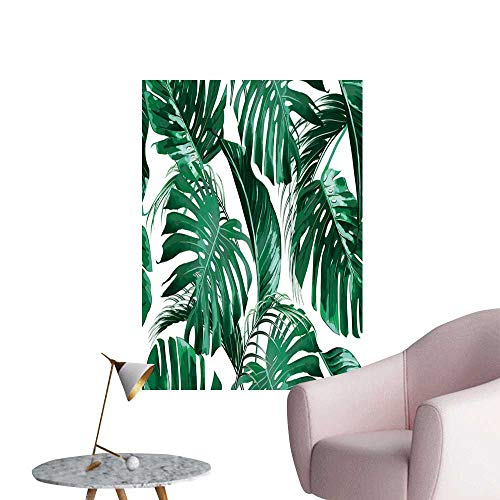 SeptSonne Wall Stickers for Living Room Tropical Palm Leaves Jungle Leaf backgroun Vinyl Wall Stickers Print,20