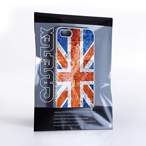 Caseflex iPhone 5 / 5S Hülle Retro Union Jack Flagge Hart Schutzhülle