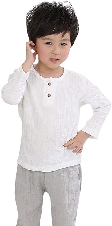 Camisetas de algodón Liso para niños y niñas, Color sólido, para ...