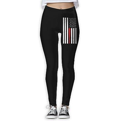 DDCYOGA American Flag Baseball Bat Womens Stretch Boot Leg Yoga Leggings Fitness Yoga Sport Pants For Girls