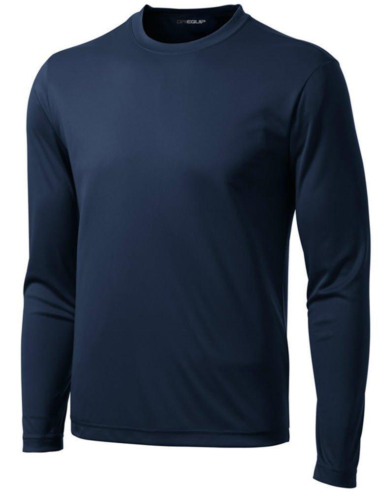 DRI-Equip Long Sleeve Moisture Wicking Athletic Shirt-X-Small-True Navy by Joe's USA