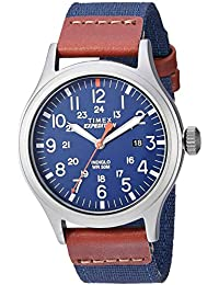Men's TW4B14100 Expedition Scout 40mm Blue/Brown/Gray Leather/Nylon Strap Watch
