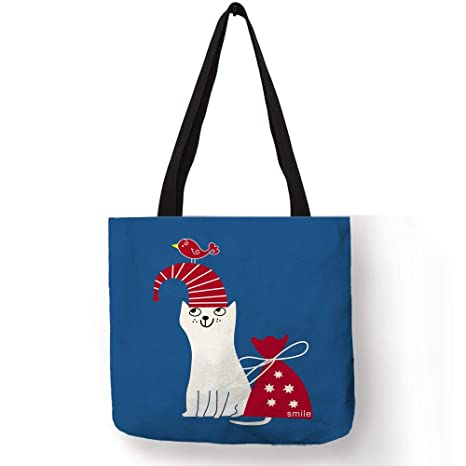 Amazon.com: Cartoon Animal Gato Impresión Bolso para Mujer ...