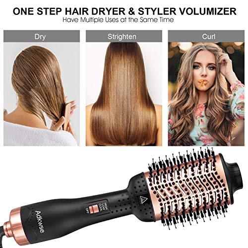 Adkwse Hair Dryer Brush Hot Air Brush Hair Dryer and Volumizer Blow Brush 4 in 1 Upgrade Hair Brush