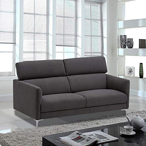 Furny Aron 2 Seater Fabric Sofa Set  Grey