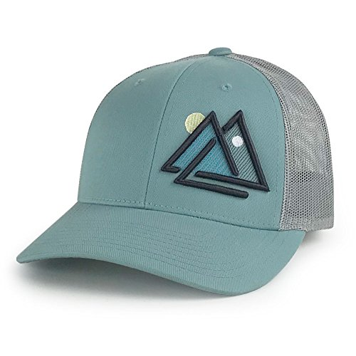c7460a356c27b WUE Outdoors Day and Night Trucker Hat Mesh Cap (Smoke Blue Grey)