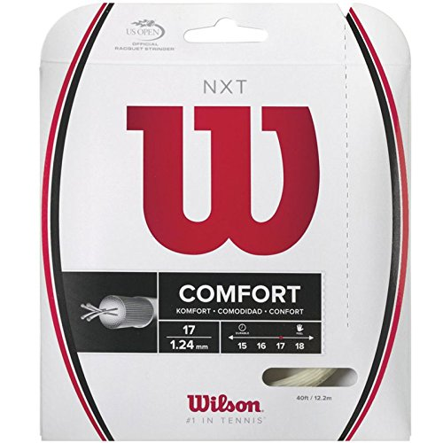 Wilson NXT Multifilament 17 Gauge Tennis Racket String in Natural (17 Tennis Racquet String)