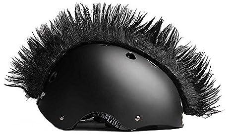 cresta per casco  Wiggystyle Mohican (Nera) cresta per casco - Mohawk Black:  ...