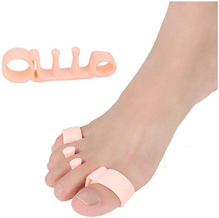 2 pares de correctores ortopédicos de juanetes de gel para los dedos de los pies, separador ortopédico para juanetes, corrector de juanetes 2.0 de CAREOR