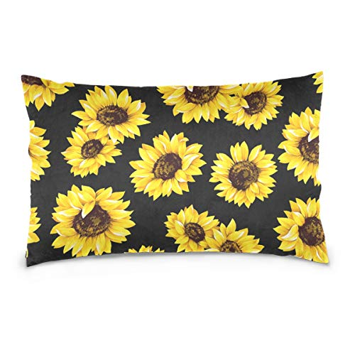 alaza Van Gogh Sunflower Cotton Standard Size Pillowcase 26 X 20 Inches Twin Sides, Tropical Sunflower Pillow Case Sham Cover Protector Decorative for Couch Ded (Sunflower Cases Pillow)