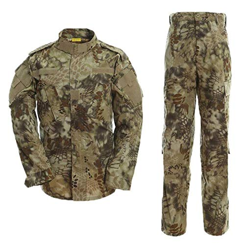 AKARMY Unisex Lightweight Military Camo Tactical Camo Hunting Combat BDU Uniform Army Suit Set MCF Desert MW M ()