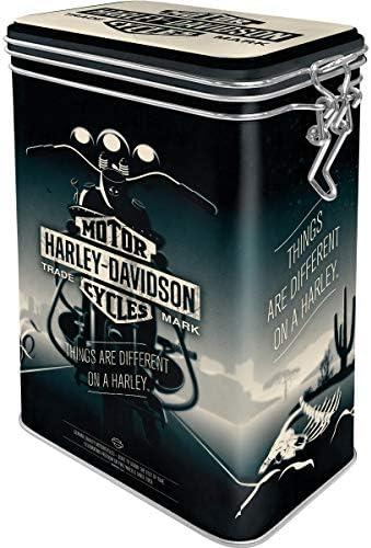 Nostalgic-Art Retro Kaffeedose Harley-Davidson 1,3 l Blech-Dose mit Aromadeckel Geschenk-Idee f/ür Motorrad-Fans Vintage Design