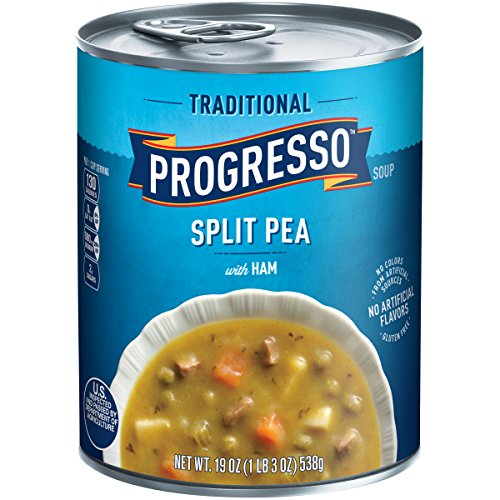 Progresso Traditional Soup, Split Pea with Ham, 19 Ounce (Pack of 4)