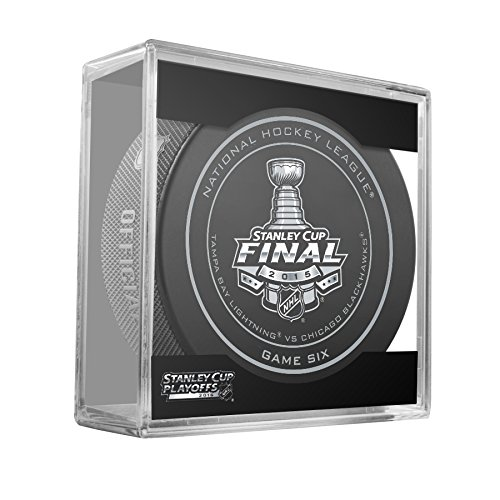 2015 NHL Stanley Cup Finals Game 6 Puck - Tampa Bay Lightning vs. Chicago Blackhawks
