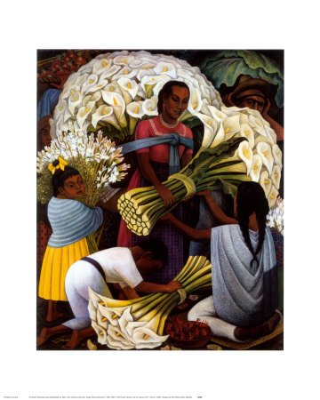 Flower Vendor - Poster by Diego Rivera (16 x 20)