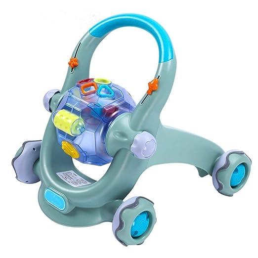 YIJIAHUI Andadores Interactiva Actividad del bebé Walker ...