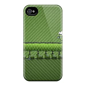 New EnjoyTime Super Strong Centipede Lace Green Tpu Case Cover For Iphone 4/4s