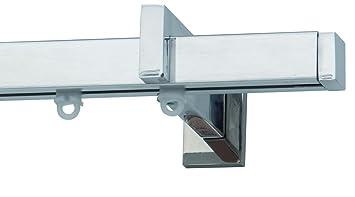 Binari Per Tende A Soffitto : Bastone binario per tenda quadrato in alluminio lucido o satinato