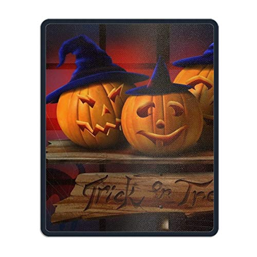 (Gaming Mousepad Halloween Pumpkin Hats Laptop Mouse pad Non Slip Rubber Locked Desk Mat 11.8 x 9.8)