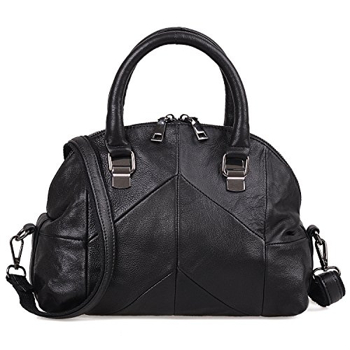 Jack&Chris Small Satchel Crossbody Bags for Women Leather Tote Top Handle Handbags,WB518C