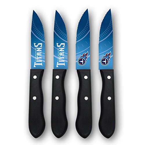Tennessee Titans Set (NFL Tennessee Titans Steak Knives (Set of 4), Blue, 9.75