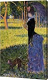 "This 15"" x 23"" premium gallery wrapped canvas print of Woman with a Monkey by Georges Seurat is meticulously created on artist grade canvas utilizing ultra-precision print technology and fade-resistant archival inks. This magnificent canvas print is ..."