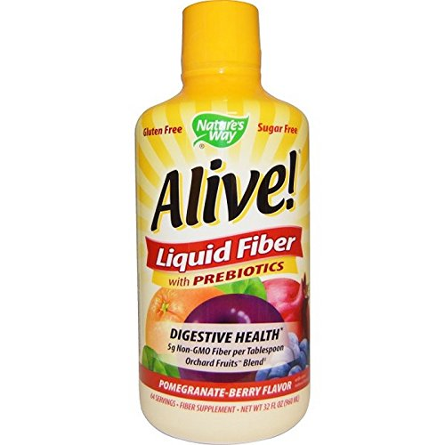 Alive! Liquid Fiber Supplements, Pomegranate/Berry, 32 Ounce
