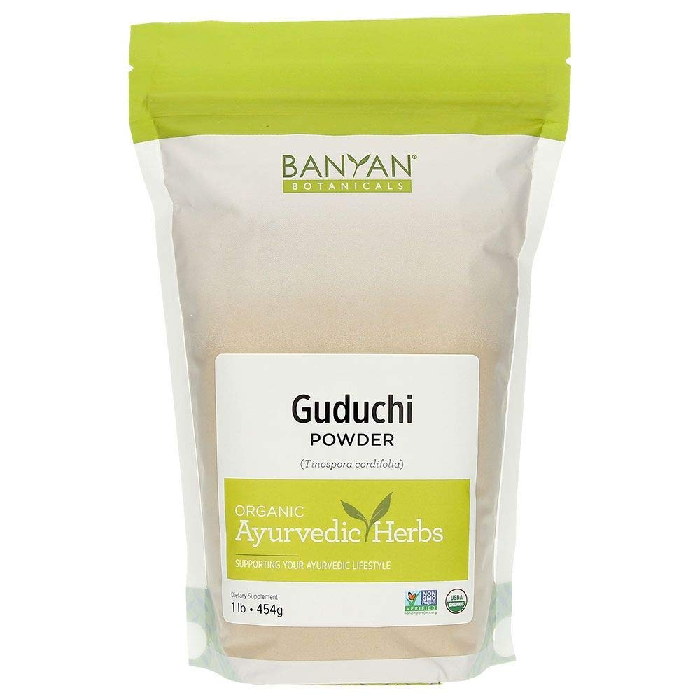 Banyan Botanicals Guduchi Stem Powder - USDA Organic, 1 Pound - Rejuvenating Herb for Digestion, Complexion, and Vitality* by Banyan Botanicals