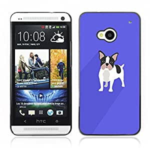 Carcasa Funda Case // V0000513 French Bulldog Drawing// HTC ONE M7