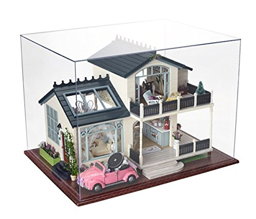 (Flever Dollhouse Miniature DIY House Kit Manual Creative with Furniture for Romantic Artwork Gift (Provence Lavender))