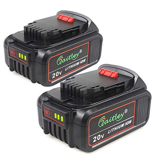 TenMore DCB206-2 6.0A Replacement Battery for DeWalt 20V Max XR DCB200 DCB205 DCD DCG DCF DCS DCK DCL Power Tools,2-Pack