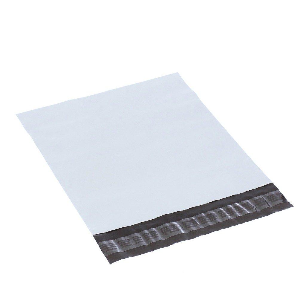 30 Pezzi XSY Bianco Poly Mailer Busta Non-imbottito Buste Plastica Sacchetti per Postale e Spedizione Vari Taglia e Quantit/à 155 x 235mm+45mm