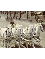 Charlton Heston in Ben-Hur iconic image of the classic chariot race in coliseum 11X14 Promotional Photograph