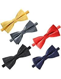74a39e64d1cc Elegant Pre-tied Bow ties Formal Tuxedo Bowtie Set with Adjustable Neck  Band,Gift