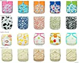 SALE! 20 KaWaii Baby Printed Snap One Size Pocket Cloth Diaper Shells