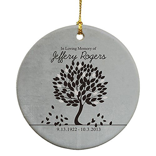 GiftsForYouNow in Loving Memory Personalized Ornament, 2.75