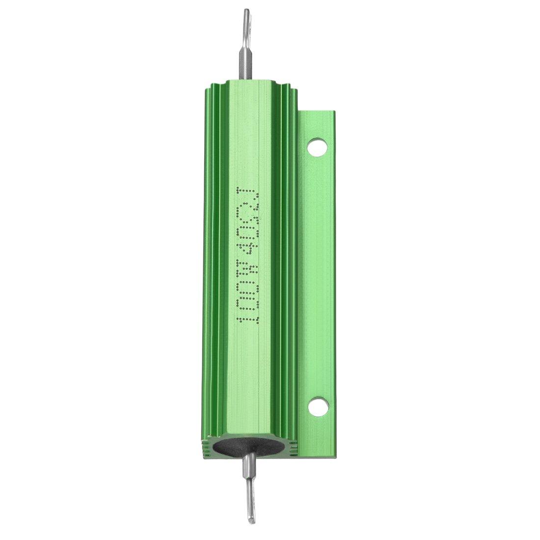 Sourcingmap/ /2/pezzi di alluminio resistore 100/W 40/Ohm a filo verde per LED di ricambio converter 100/W 40RJ