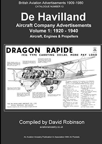 De Havilland Aircraft Company Advertisements. Volume 1: 1920 - 1940